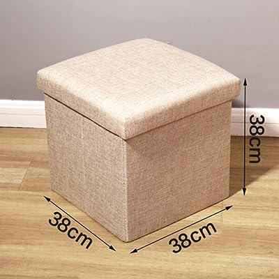 TT&D GBXX Fashion Creative Small Furniture Taburete Antideslizante Banco de Zapatos Plegable multifunción Sofá casero Taburete de Almacenamiento Taburete Tocador Taburete Multifunción Hogar Creativo: Hogar