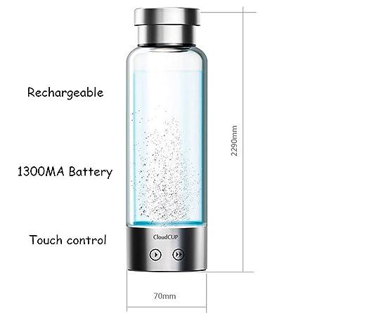 LUCKY CLOVER-A Taza/Botella de hidrógeno, ionizador portátil para ...