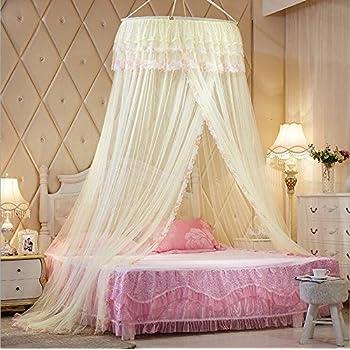 Amazon Com Princess Hanging Round Lace Canopy Bet Netting