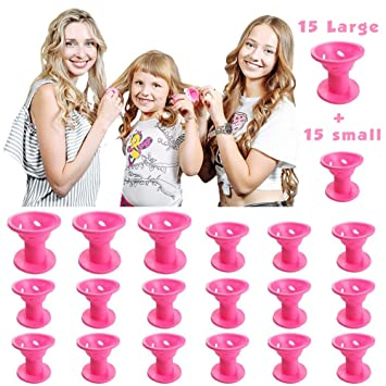Amazon 30pcs Silicone Rollers Hair Curlers Diy Hair Style No