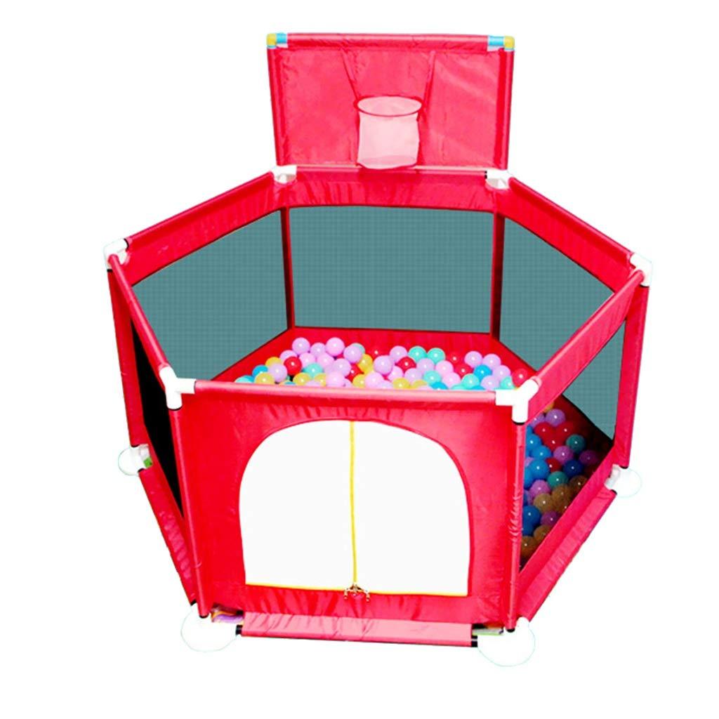 HWH Baby Spielzeug Zimmer, Kind Spiel Zaun Leitplanke Leitplanke Zaun Crawl Kleinkind Zaun Ozean Ball Pool Indoor Spielplatz 129  110  105 cm Spiel Haus b038b7
