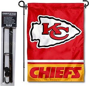 WinCraft Kansas City Chiefs Garden Flag with Stand Holder