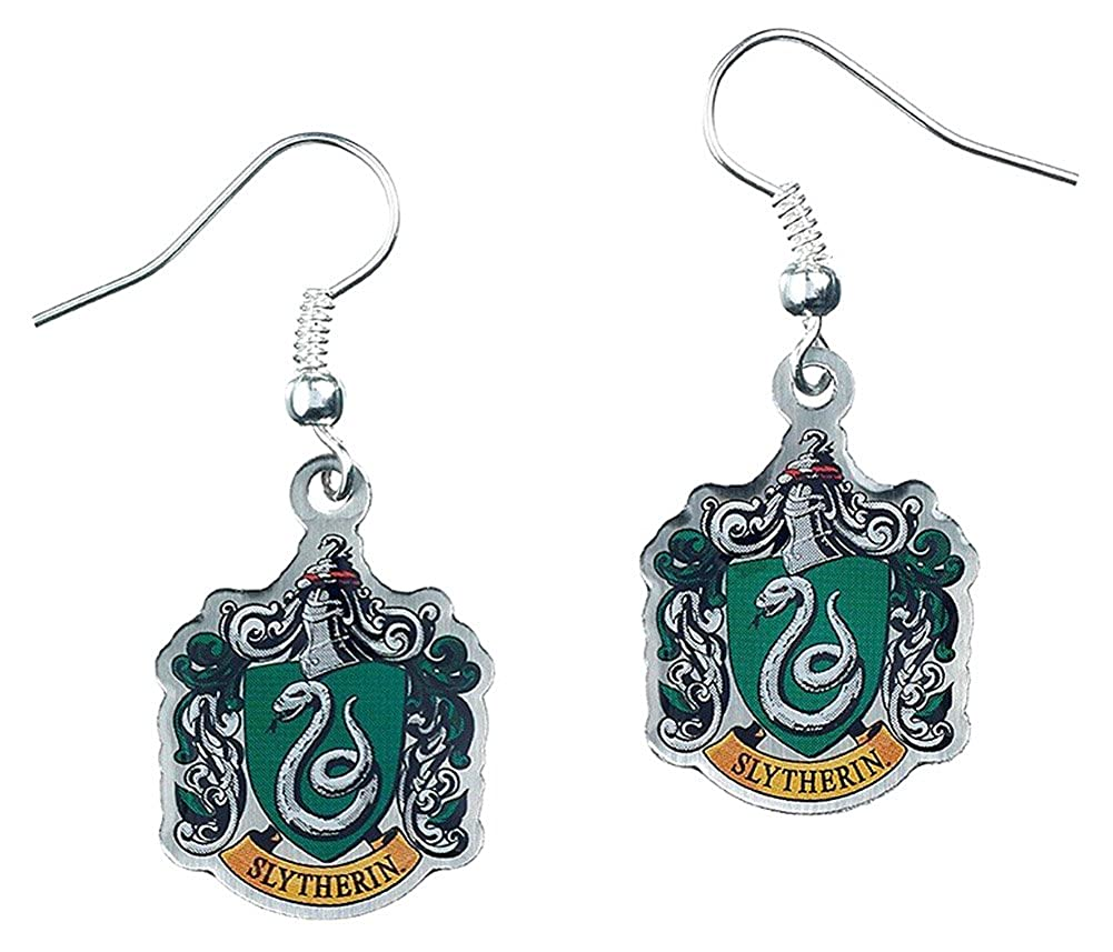 Slytherin Crest Earrings Harry Potter The Carat Shop Ltd WE0023