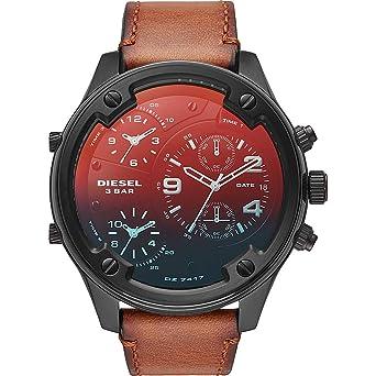 48649dc3e680 Amazon.com  Diesel Men s Boltdown - DZ7417 Brown One Size  Watches