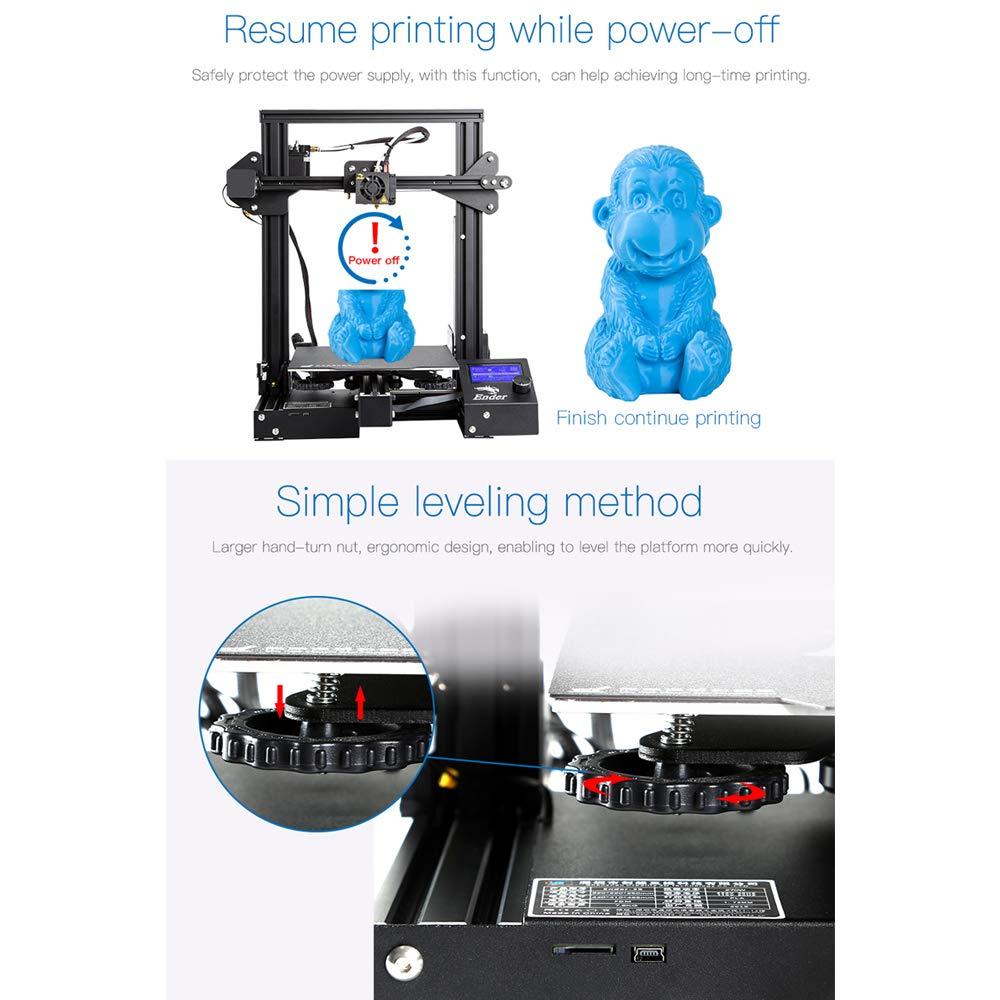 250 mm Druckgr/ö/ße f/ür den Heim und Schulgebrauch 220 Aibecy Creality 3D Ender-3 Pro Hochpr/äziser 3D-Drucker DIY-Kit MK-10 Extruder mit Wiederaufnahme der Druckfunktion Heizbettunterst/ützung 220