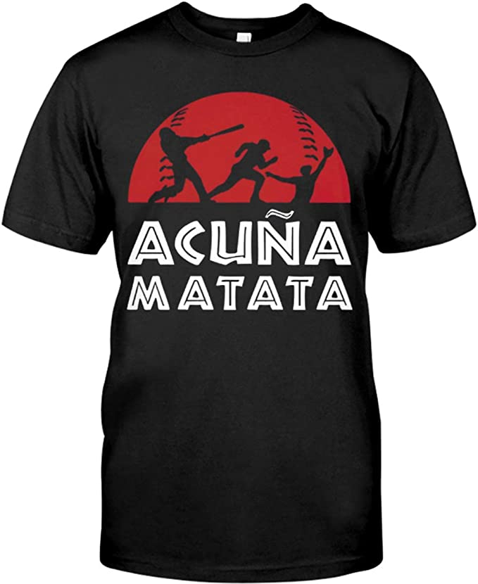 Amazon.com: Acuna-Matata-T-Shirt Black