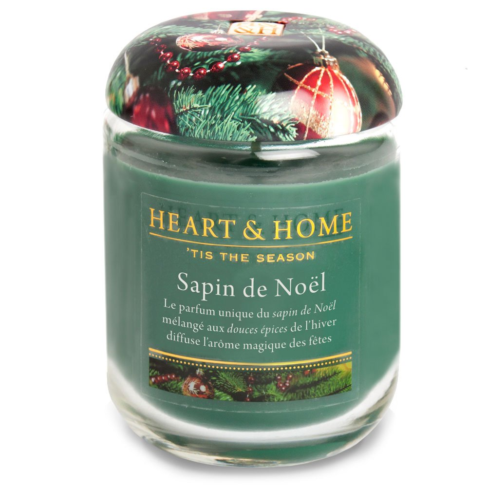 Grande Bougie à la cire de soja - Sapin et épices de Noël Heart and Home