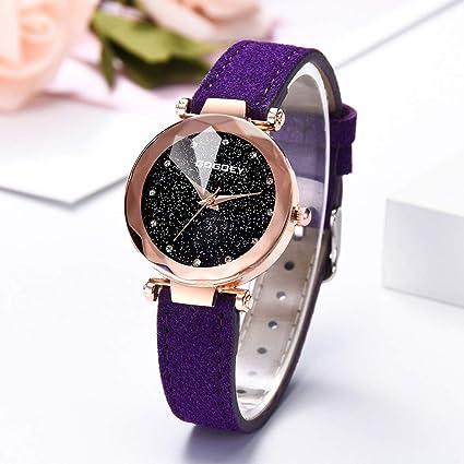 Reloj de cuarzo para mujer, diseño de esfera de estrella ...