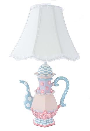 Perfect Adorable Teapot Table Lamp   Fantastic Hand Painted Details