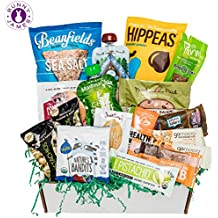 BUNNY · JAMES · Healthy Vegan Snacks Care Package: Natural, Organic, Non-GMO, Vegan Cookies, Protein Bars, Fruit Snacks, Vegan Jerky, Chips, Nuts, Premium Vegan Gift Sampler Box