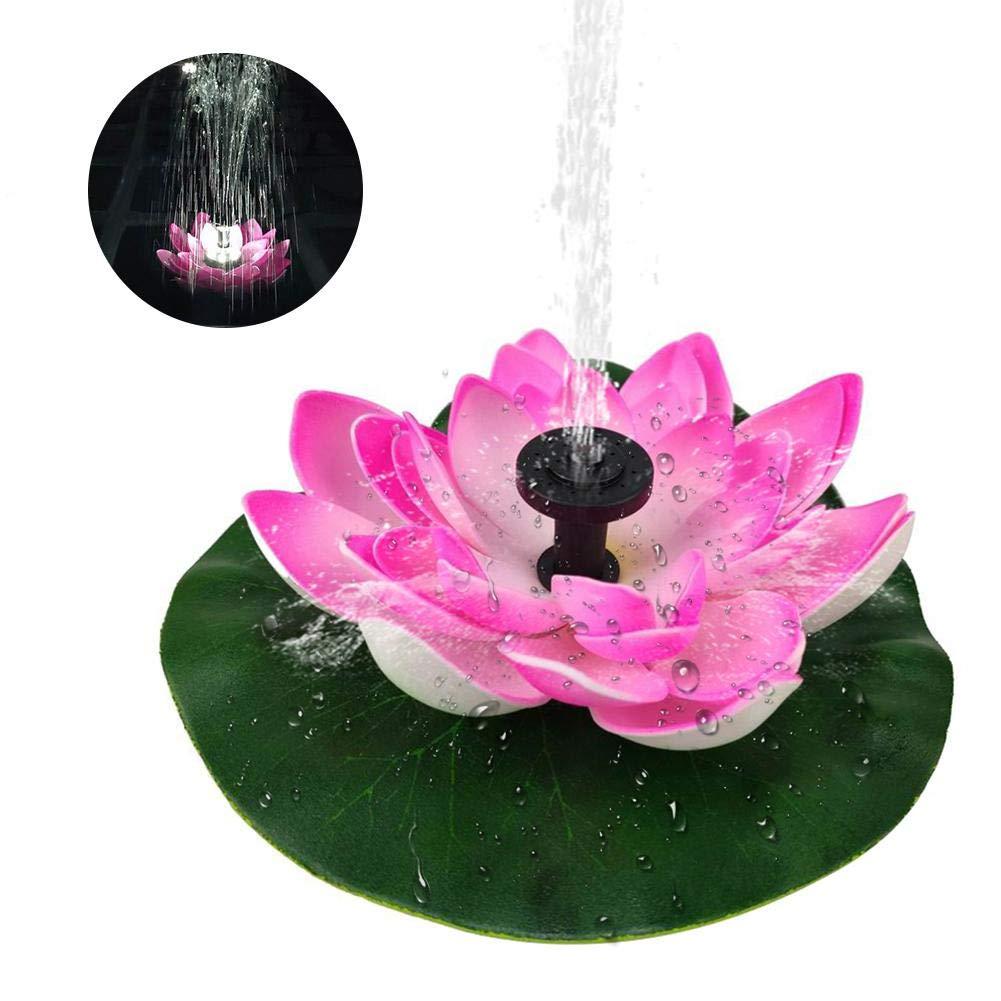 Anivia Pompa Fontana Solare 3W per Bagno di Uccello con Illuminazione A LED Fontana Solare di Lotus Fontana Galleggiante in Miniatura Fontana Indipendente per Esterno Giardino per Stagno E Piscina