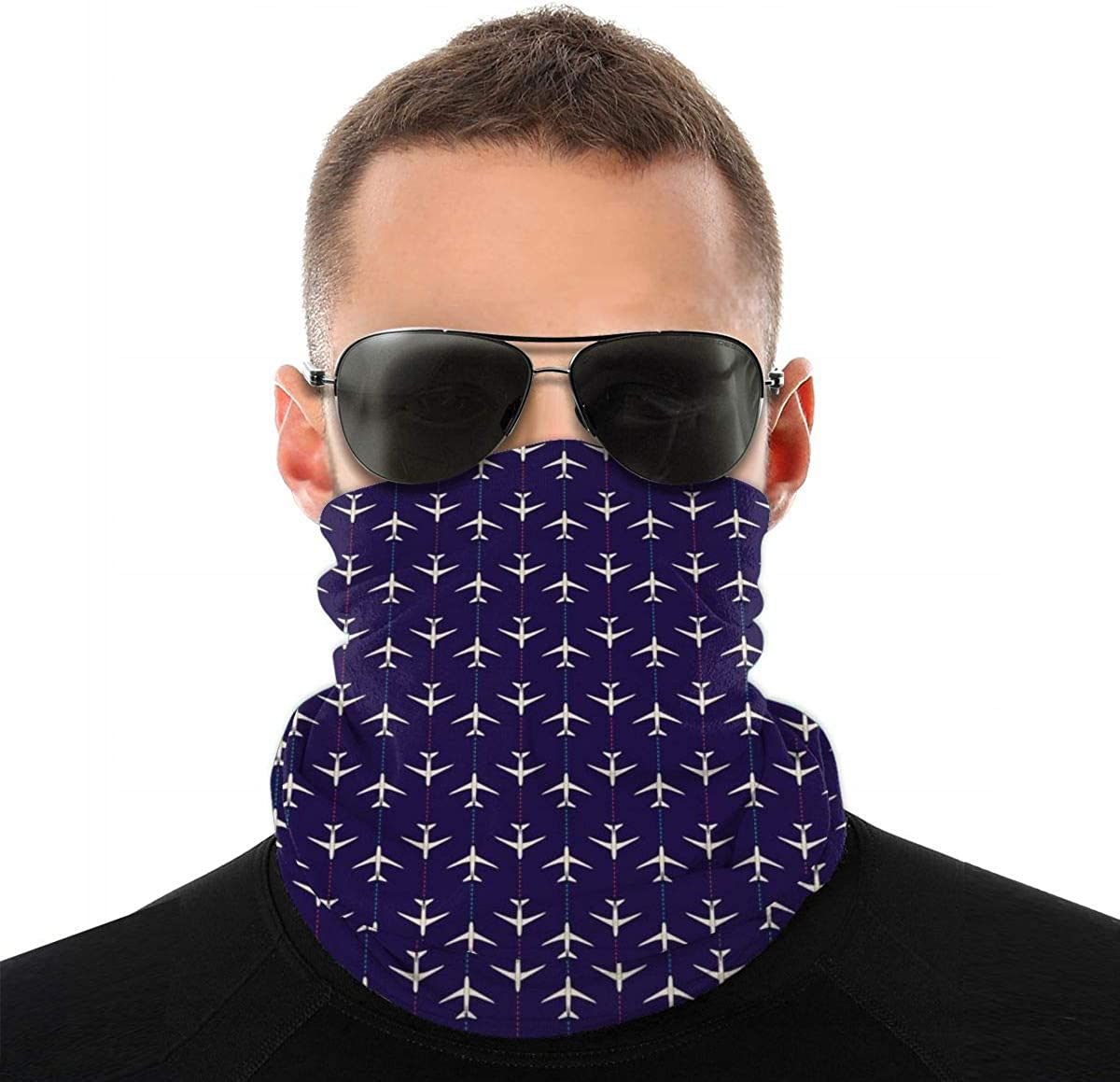 Gonouwxu Multi-Function 3D Lion Print Multicolor Scarf Unisex Outdoor Protective Safety Mouth Shield Elastic Neckerchief