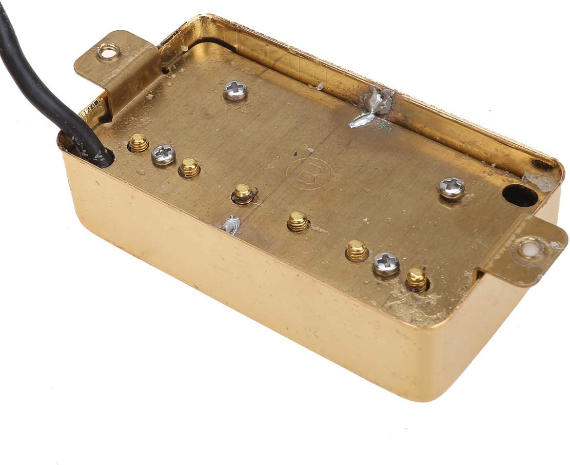 Gold Wilkinson Classic Tone Ceramic PAF Style Humbucker Pickups Set for Les Paul Style Electric Guitar