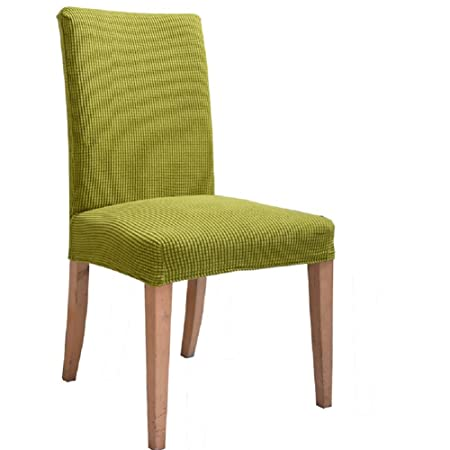 Stretch Dining Room Chair Slipcovers Pack Of 4 Green