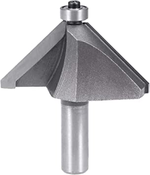 uxcell Chamfer Router Bit with 1//4 Inch Shank 1//2 Inch Cutting Depth 45 Degree Cutting Angle for Woodworking