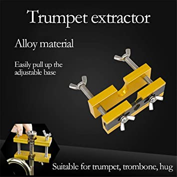 DIYARTS Mouthpiece Puller Trumpet Copper Instrument Mouthpiece Extractor Remover Tool Adjustable for Trumpet Trombone Euphonium