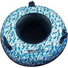 WindRider Snow Tube | Heavy Duty with a Hard Plastic Bottom, Durable Cordura Nylon Top | Towable | High Speed Snow Sled