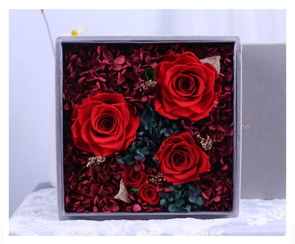 HARDY-YI 永遠の花ギフトボックスバラの装飾バレンタインデーの贈り物誕生日の恋人永遠の花 - 永遠の花 995 (色 : A) B07RBJTGMM A