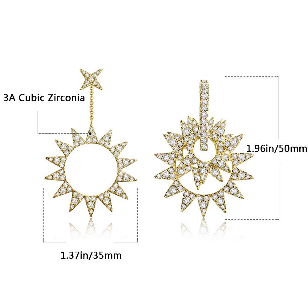 Personalized earrings Jewelry Gift for Women Girls Asymmetrical Earrings for Women Ear Piercing Earrings Cubic Zirconia Inlaid