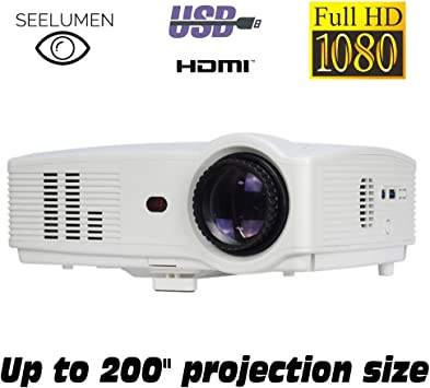 Proyector Full HD, SEELUMEN PJW100 Proyectores 3200 Lumens ...
