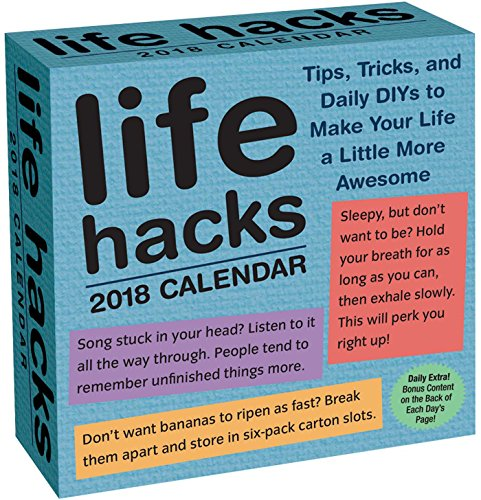 Life Hacks 2018 Day-to-Day Calendar cover