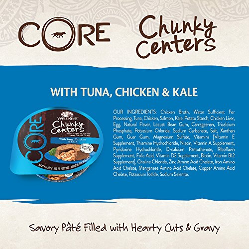 30%OFF Wellness CORE Chunky Centers Natural Grain Free Wet Dog Food, 6-Ounce Cup (Pack of 24)