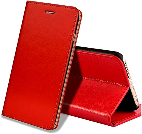 EATCYE Custodia iPhone 6S Plus,Cover iPhone 6 Plus, Custodia in Vera Pelle Pelle Libro Portafoglio in Pelle Magnetic Closure Paraurti per Apple iPhone ...