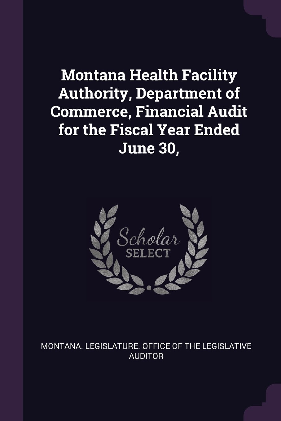 Montana Health Facility Authority, Department of Commerce, Financial Audit for the Fiscal Year Ended June 30, pdf