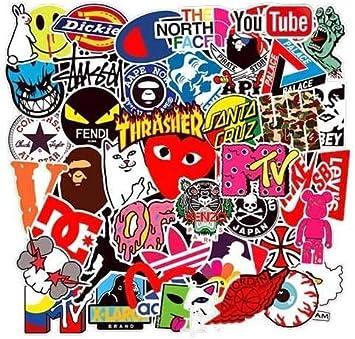 200pcs Cool Brand Pegatinas Calcomanías Stickers Pack Teens Decals para Portátiles Frasco hidráulico, Tabla de Snowboard, Equipaje, Motocicleta, iPhone, MacBook, Pared, Calcomanías de Bricolaje…: Amazon.es: Electrónica