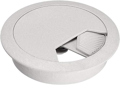 Oval Desk Grommet Black Plastic for Cable Management