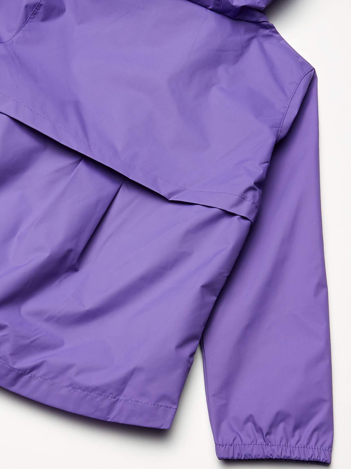 Aiyukker Girls Rain Jacket Lightweight Waterproof Raincoat Outdoor Hooded Fleece Lined Windbreaker Jacket for Kids