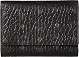 MCM Women's Visetos Original Small Trifold Wallet with Pocket Black One Size