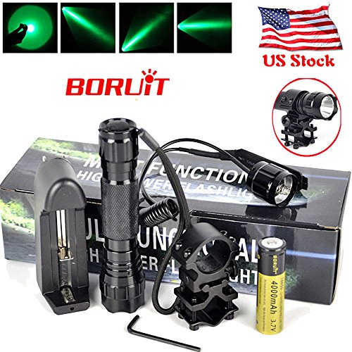 Price comparison product image New 5000lm XM-L LED Tactical 501B Flashlight Torch+Rifle Mount Gun+Remote Switch