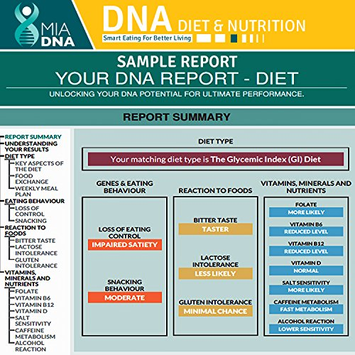 MiaDNA Genetic Home Test for Diet & Nutrition ! personal genetic uncover your and response to food! plan tailored for genetic analysis!