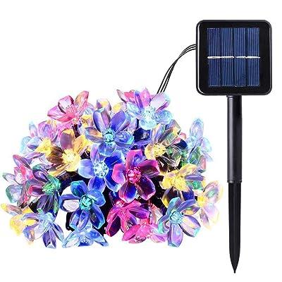 LED Solar Power Cherry Blossom Fairy Light Yard Fairy Decorative Lamp 20/50