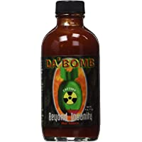 Da Bomb Beyond Insanity Hot Sauce, 4oz Bottle, Made with Habanero and Chipotle Peppers, Original Hot Sauce, Gluten Free…
