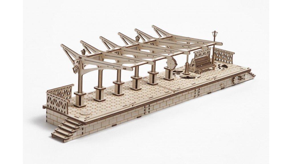 The UGEARS 3D Model RAILWAY UGEARS PLATFORM 3D wooden UGEARS puzzle by UGEARS B01GX4FVDM, 手芸の山久:6b8a0351 --- m2cweb.com