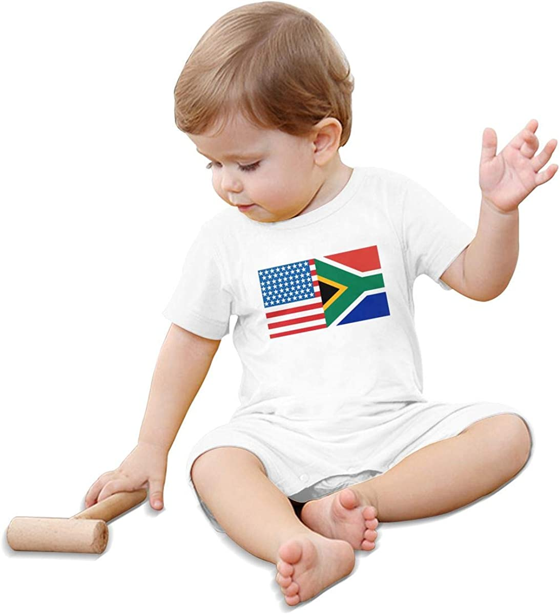 Mri-le1 Newborn Baby Jumpsuit American South African Flag Baby Clothes