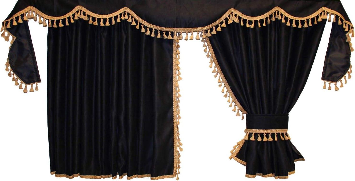 Gold Adomo LKW Gardinen passend zum Stralis und Hi-Way in schwarz