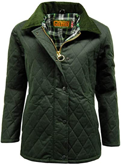 b026ae175 Game Women's Zara' Wax Quilted with Corduroy Collar Stylish Jacket & Coat  New