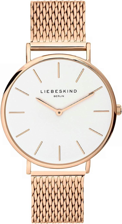 LIEBESKIND BERLIN Reloj Analógico para Unisex Adultos de Cuarzo con Correa en Acero Inoxidable LT-0155-MQ