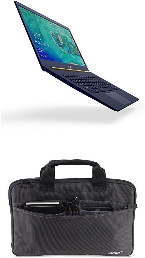 "Acer Swift 5, 14"" Full HD Touch, 8th Gen Intel Core i7-8550U, 16GB LPDDR3, 512GB SSD, Windows 10, SF514-52T-82WQ + Acer 14"" Slip Case for Work"
