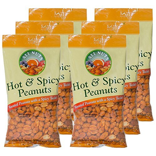All Nuts 6 Pack Peanuts Hot Spicy 6oz Bags