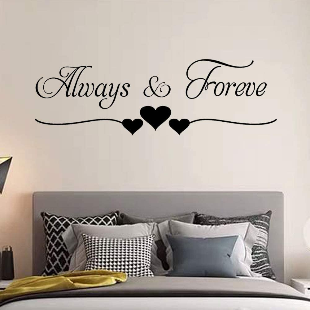 Tbrand Wall Sticker Rooms Decoration Always Forever Wall Décor for Couples,Bedroom Living Room Girl Room,Baby Room Art Home Decor.Wall Stickers for Living Room Bedroom.