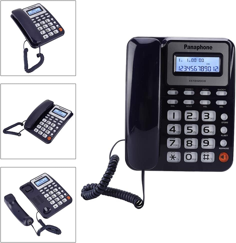 support for FSK and DTMF dual systems and caller ID display red Hakeeta Corded telephone,Home office phone with LCD screen