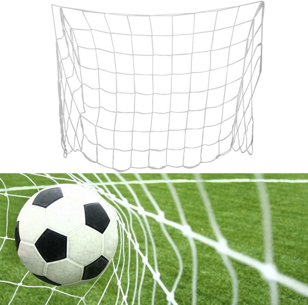 V GEBY Filet de But de Football Accessoire de Formation de Filet de Football de Fibre de polypropyl/ène de 1.2x0.8m pour Le Jeu de Match de Football