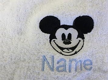 Albornoz con capucha para bebé de color blanco o blanco con capucha toalla con una cara