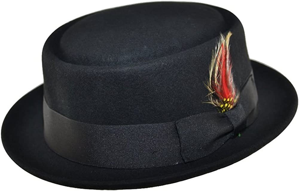 MAZ Crushable Wool Felt Round Pork Pie Hat