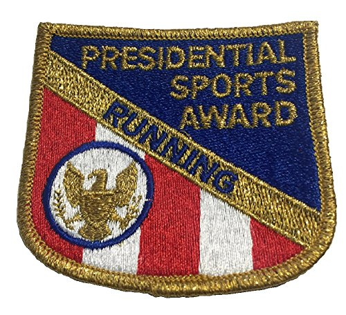Presidential Patch - Running - Presidential Sports Award - Vintage Embroidered Patch