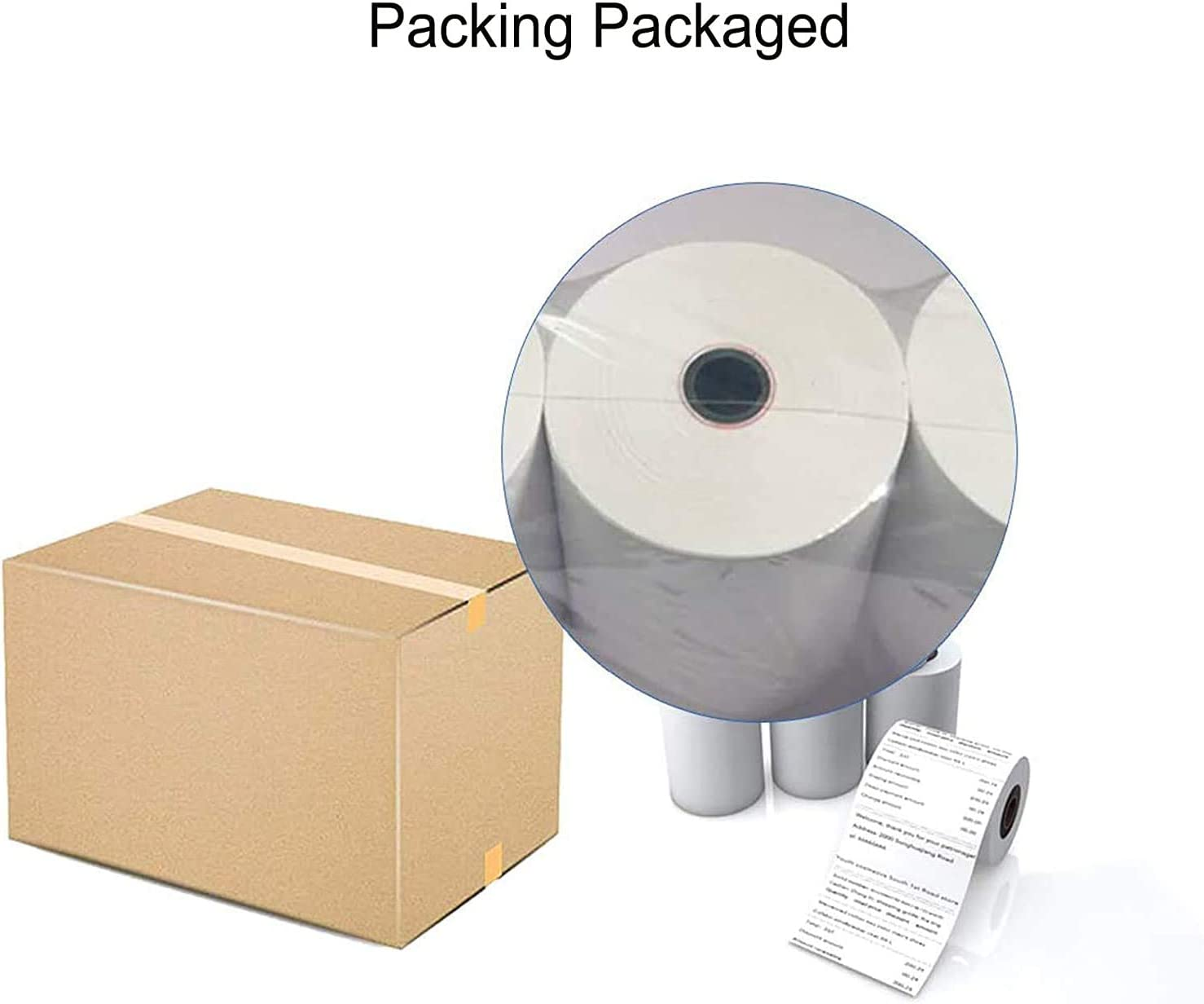 20 Rolls Thermal paper rolls 2 1 4 x 85 credit card paper for POS Receipt Paper -Thermal-paper-rolls